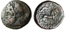 "Ancient Coins - Sicily, Syracuse Under Roman Rule 212 BC ""Zeus & Nike in Biga"" Scarce"