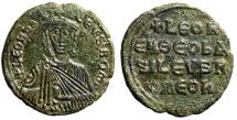"Ancient Coins - Leo VI The Wise AE Follis ""Crowned Bust Facing"" Constantinople SB 1729 VF"