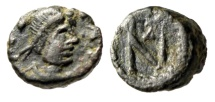 """Ancient Coins - Zeno AE4 """"Monogram Within Wreath"""" Constantinople Mint RIC 958 Rare Good VF"""