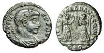"""Ancient Coins - Constans AE4 """"VICTORIAE DD AVGGQ dot NN Victories"""" RIC 84 Rare Good VF"""