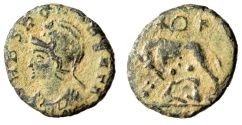 """Ancient Coins - Rome City Commemorative """"VRBS ROMA BEATA / Wolf"""" Very Rare Obverse Type RIC 55"""