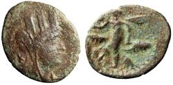 """Ancient Coins - Phoenicia, Byblos AE22 """"Tyche, Star Behind & SIx Winged Kronos"""" Very Rare"""