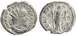 """Ancient Coins - Postumus AR Antoninianus """"Felicitas with Caduceus"""" RIC 58 VF"""