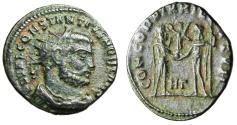 """Ancient Coins - Constantius I Chlorus AE Radiate """"Jupiter & Emperor"""" Heraclea RIC 15 VF"""