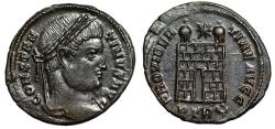 """Ancient Coins - Constantine I The Great AE20 """"PROVIDENTIAE AVGG Campgate"""" Trier RIC 475 aEF"""
