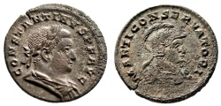 """Ancient Coins - Constantine I The Great Follis """"MARTI CONSERVATORI Helmeted Mars Bust"""" RIC 877"""