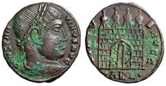 """Ancient Coins - Constantine I The Great """"VIRTVS AVGG Campgate, Doors"""" Arles RIC Unpublished Rare"""