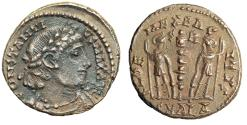 """Ancient Coins - Constantius II of Alexandria 337-340 AD """"Soldiers, S-R"""" RIC 6 Rare Good VF"""