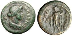 """Ancient Coins - Lydia, Tripolis AE Autonomous Issue """"Dionysos"""" Rare"""
