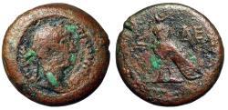 """Ancient Coins - Hadrian AE Obol """"Horus Falcon"""" Year 10 (125-126 AD) Alexandria Very Rare"""