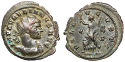 "Ancient Coins - Aurelian Silvered Antoninianus ""PAX AVGVSTI Pax Walking, Drapery Flowing"" Siscia"