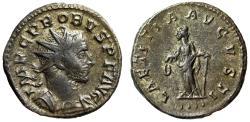"Ancient Coins - Probus AE Antoninianus ""LAETITIA AVGVSTI Laetitia"" Lyons RIC 31 Good VF"