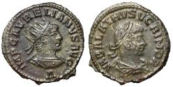 "Ancient Coins - Aurelian & Vabalathus Billon Antoninianus ""Portrait of Both"" Antioch Good VF"