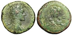 "Ancient Coins - Commodus AE Sestertius ""Trophy, Two Captives DE SARM"" RIC 1573 Good Fine Scarce"