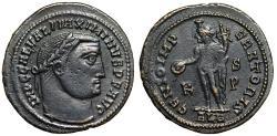 """Ancient Coins - Maximinus II Daia AE Follis """"GENIO IMPERATORIS Genius"""" Alexandria RIC 107c VF"""