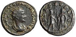 """Ancient Coins - Saloninus Billon Antoninianus """"SPES PVBLICA Emperor & Spes"""" Samosata Scarce"""