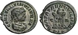"Ancient Coins - Constantine II Caesar AE19 ""Globe on Altar, Three Stars"" Lyons RIC 148 Near EF"
