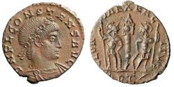 """Ancient Coins - Constans I AE16 """"GLORIA EXERCITVS Soldiers"""" Rome RIC 52 Rare Choice EF"""