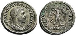 "Ancient Coins - Philip I BI Tetradrachm ""Eagle Right, Head Left,  A Above"" Syria, Antioch Scarce nEF"