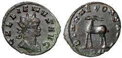"""Ancient Coins - Gallienus AE Antoninianus """"DIANAE CONS AVG Antelope Left"""" RIC 181 EF"""
