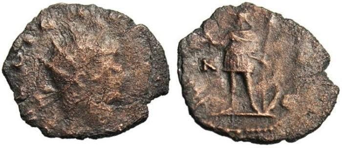 """Ancient Coins - Gallienus AE Ant. """"MARTI PACIFERP Mars"""" Rome RIC 236"""