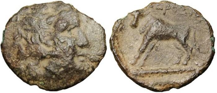 """Ancient Coins - Odrysian Kindgom, AE 18 """"Zeus & Bull"""" Rare BMC Black Seas 333"""