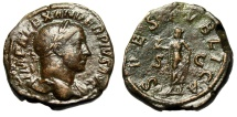 """Ancient Coins - Severus Alexander AE Sestertius """"SPES PVBLICA Hope of the People"""" RIC 648"""
