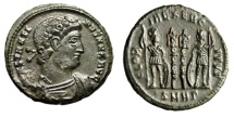 "Ancient Coins - Constantine I The Great AE3 ""GLORIA EXERCITVS Soldiers"" Heraclea RIC 116 nEF"