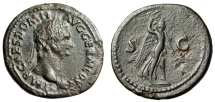 "Ancient Coins - Domitian AE As ""Victory Holding Aquila"" Rome Mint 84 AD RIC 230 Rare"