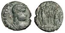"Ancient Coins - Decentius Bronze 21mm ""VICTORIAE DD NN ET AVG ET CAES Two Victories"" Arles VF"