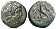 "Ancient Coins - Pontos, Amisos AE19 ""Zeus & Eagle on Thunderbolt"" Mithradates IV"