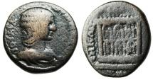 """Ancient Coins - Julia Domna AE24 """"Flaming Altar of Elagabalus"""" Syria Emesa BMC 20 Rare"""