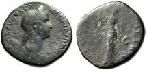 "Ancient Coins - Sabina (Wife of Hadrian) AE Sestertius ""VENERI GENETRICI Venus"" RIC 1035"