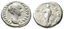 "Ancient Coins - Faustina II Junior AR Denarius ""Venus, Rudder & Dolphin"" Good Fine Nice Portrait"