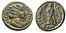 "Ancient Coins - Fausta (Wife Constantine I The Great) ""SPES REIPVBLICAE Children"" Heraclea nEF"