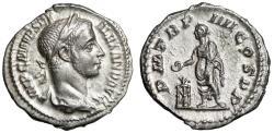 """Ancient Coins - Severus Alexander AR Denarius """"Emperor by Tripod"""" RIC 50 225 AD EF Luster"""