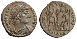 """Ancient Coins - Constans I AE15 """"CONSTANS MAX AVG Legends & Soldiers"""" Alexandria RIC 7 EF"""