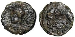 """Ancient Coins - Barbarous Rome City Commemorative AE12 """"Roma & Lupa Romana"""" About EF"""