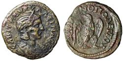 "Ancient Coins - Tranquillina (Wife of Gordian III) AE24 of Hadrianopolis ""Portrait & Eagle"" Rare"