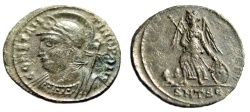 "Ancient Coins - Constantinople City Commemorative AE3 ""Victory on prow"" Thessalonica 5th Off."