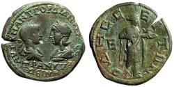 "Ancient Coins - Gordian III & Tranqullina Pentassarion ""Confronted Portraits & Hygeia"" Odessos"