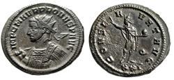 """Ancient Coins - Probus AE Antoninianus """"CONSERVAT AVG Spear & Sol Q"""" Siscia RIC 672 Near EF Rare"""