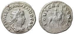 "Ancient Coins - Valerian II Caesar AR Antoninianus ""Child Jupiter on Goat"" Rome Rare RIC 14"