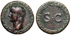 "Ancient Coins - Germanicus AE As Struck Under Caligula 40-41 AD ""Portrait & SC"" RIC 50"