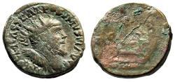 "Ancient Coins - Postumus Cast Dupondius ""Radiate Bust & Galley"" 22mm, 5.96g Rare"
