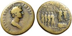 "Ancient Coins - Nerva Sestertius ""ADLOCVT AVG SC Addressing Soldiers"" Rome 96AD RIC 50 Very Rare"
