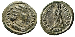 """Ancient Coins - Fausta (Wife Constantine I The Great) """"SPES REIPVBLICAE Children"""" Heraclea nEF"""