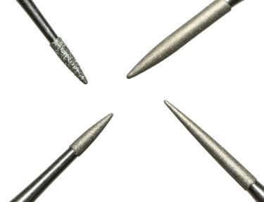 Ancient Coins - Set of 4 Professional Diamond Coated Pin Tools + Vises For Cleaning & Restoring Coins
