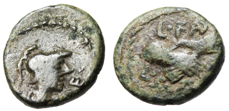 """Ancient Coins - Lucania, Paestum (Later as Poseidonia) """"Athena & Hands Clasped"""" Scarce"""
