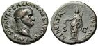 """Ancient Coins - Galba AE As """"Libertas, Pileus Cap of Free Slaves"""" Rome 68 AD RIC 328 VF Scarce"""